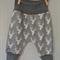 Grey Deer Head Organic Cotton Jersey Harem Pants