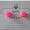 Handmade Earrings. Hypoallergenic Surgical Steel Studs. Resin Roses.