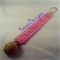 Light Pink Pacifier Dummy Clip Holder Chain Wooden Universal