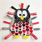 Cute penguin taggie in red pattern