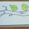 Green Birds on a Branch card