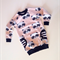 Jumper Dress in Pink Pandas sweat knit.  Size 4 for Larnie only.