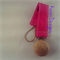 Hot Pink Fuchsia Rose Red Pacifier Dummy Clip Holder Girls Wooden Chain Natural