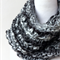 Chunky infinity scarf - Black and Grey Knit chunky Cowl Scarf