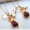 Personalized Mother And Daughter Necklace Set Gold Filled
