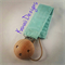 Mint Green Pastel Pacifier Dummy Clip Holder Chain Wooden Universal