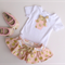 Gorgeous Pink with Gold Spots Set - Skirted Bloomer + cupcake onesie