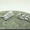 Sterling Silver Stud Earrings, Leaf Earrings, Post earrings, Solid Sterling