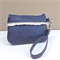 Brooke Coin Purse:  navy with silver looped fringe