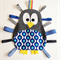 Cute penguin taggie in blue pattern