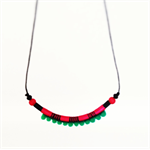 Juicy watermelon love mini pom pom necklace