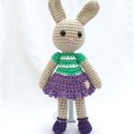 Flora Bunny, Toy Rabbit, Amigurumi Rabbit, Gift, Soft Toy, Plush.