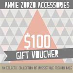Gift Voucher:  $100