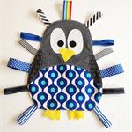 Cute penguin taggie in blue pattern
