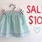 Sizes 1-4, aqua spots, 'The Zarli Everyday Skirt'