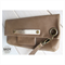 Mocha Leather fold over clutch with wrist strap