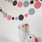 Paper Dot Confetti Circle Garland Greys & Pink 3 Metres for Parties, Decoration