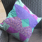 Patchwork Cushion cover in Purple and green. Quilted, zip closure