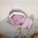 Newborn Fabric Bonnet with Torsion and Venice Lace/ Photography Prop / Unisex