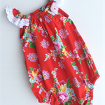 Beautiful Red Girls Playsuit, Romper - Size Newborn