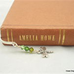 Luxury Bookmark - sterling silver flower with Swarovski crystals