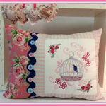Embroidered Decorative Pillow Throw Pillow Bedroom Pillow Flower