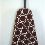 Ironing Board Cover - chocolate brown and white modern decor