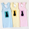 Brightly Coloured Baby Singlets, Screenprinted, Polka Dot, Bunny, Size 00