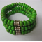 Vibrant green turquoise triple stack bracelet by CherryGuavaDesigns