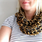 Urban Slouchy Cowl | Charcoal & Gold