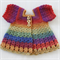 Crocheted Bella Rebekah Cardigan. Size 0-3 months