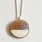 White & Silver Glitter Wood Slice Necklace