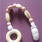 Silicone Beaded Dummy Clip - pink/cream