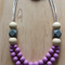 Silicone Teething Necklace -Poppy in Purple- (Limited Edition)