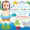 Personalised kids boys photo under the sea birthday party invitations invites