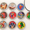 set of 10 SUPERHERO Squad party favour necklaces or keyrings