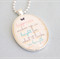 happiness quote necklace, inspirational quote jewelry