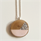 Pink & Silver Glitter Wood Slice Necklace