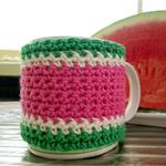 Watermelon mug cosy crochet coffee mug cover mug cosies