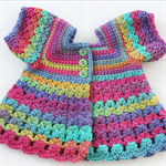 Crocheted Bella Rebekah Cardigan. Size 12-18 months