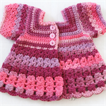 Crocheted Bella Rebekah Cardigan. Size 18-24 months