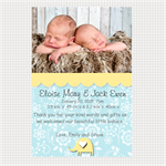 Printable Twin Babies Announcement