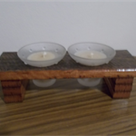 Pure beeswax candles in stunning handmade frame