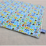wash or burp cloth - little owls / blue organic cotton bamboo / baby child boy