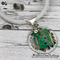 Computer Nerd Button Pendant + Earrings - Silver Tone Finding on Stunning cord
