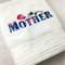 Gorgeous Machine Embroidered White Hand Towel Gift for Mother