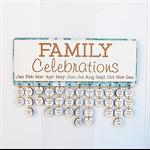 Personalized Family Celebrations Calendar, seaside theme