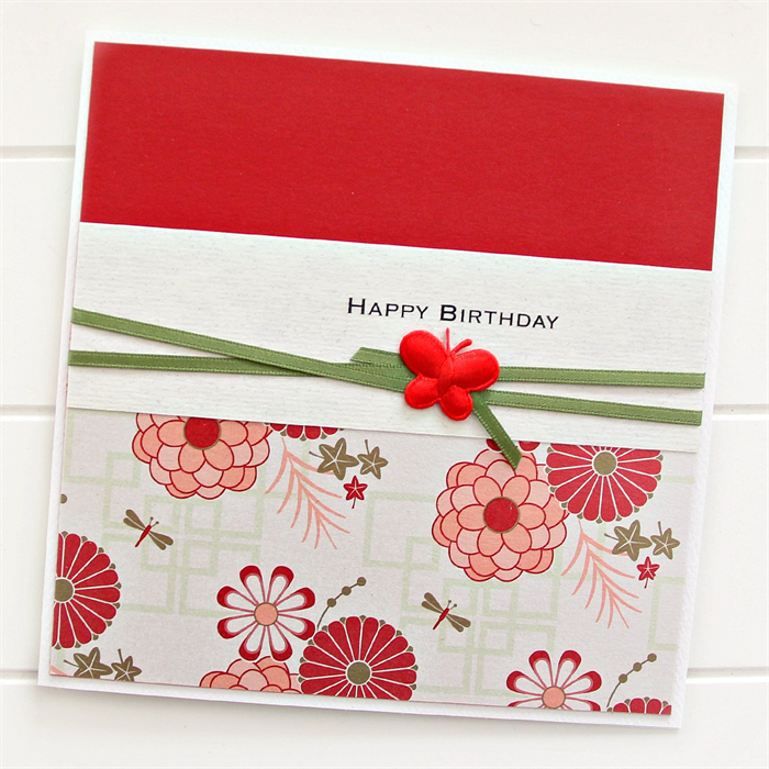 Happy Birthday Card For Her Oriental Red Friend Mum Sister Daughter