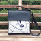 Mini Satchel - Black - Wren Inky Blue on Oatmeal - Free Shipping