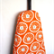 Ironing Board Cover - sherbet orange and white flowers with a duck egg blue